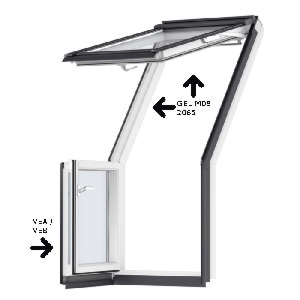 VELUX Dakterrasvenster GEL M08 2065 (excl. deurelement)