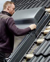 Velux smart ventilatie montage stap 5 van 5